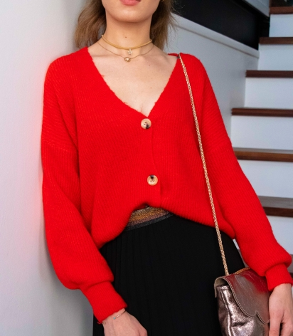 Gilet Pull Rouge