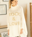 Robe Pull Rock and Love Blanc